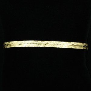 14k Gold Double Herringbone Bracelet